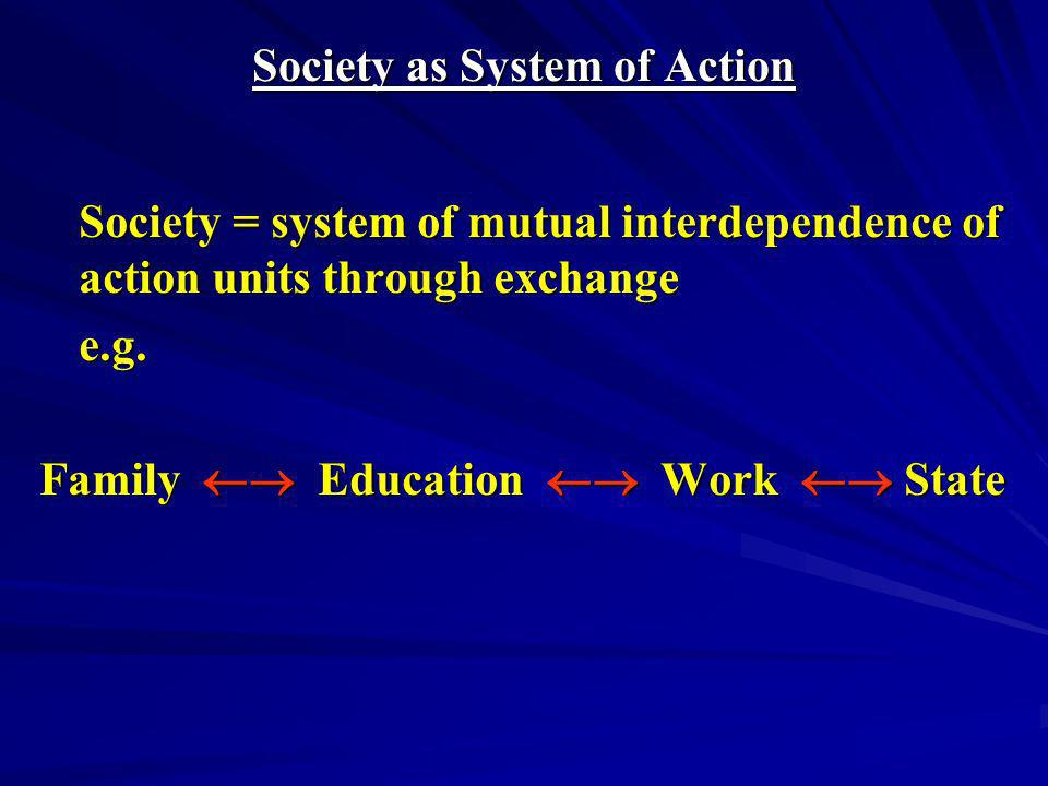 Society as System of Action
