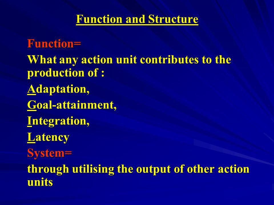 Function and Structure