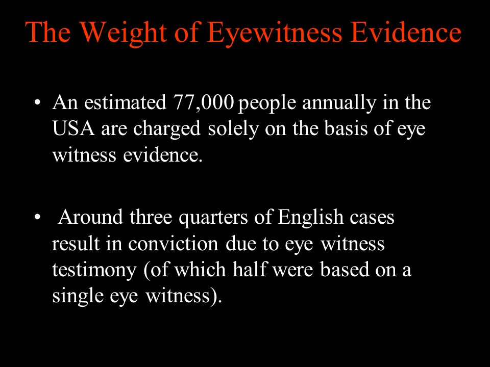 The Weight of Eyewitness Evidence