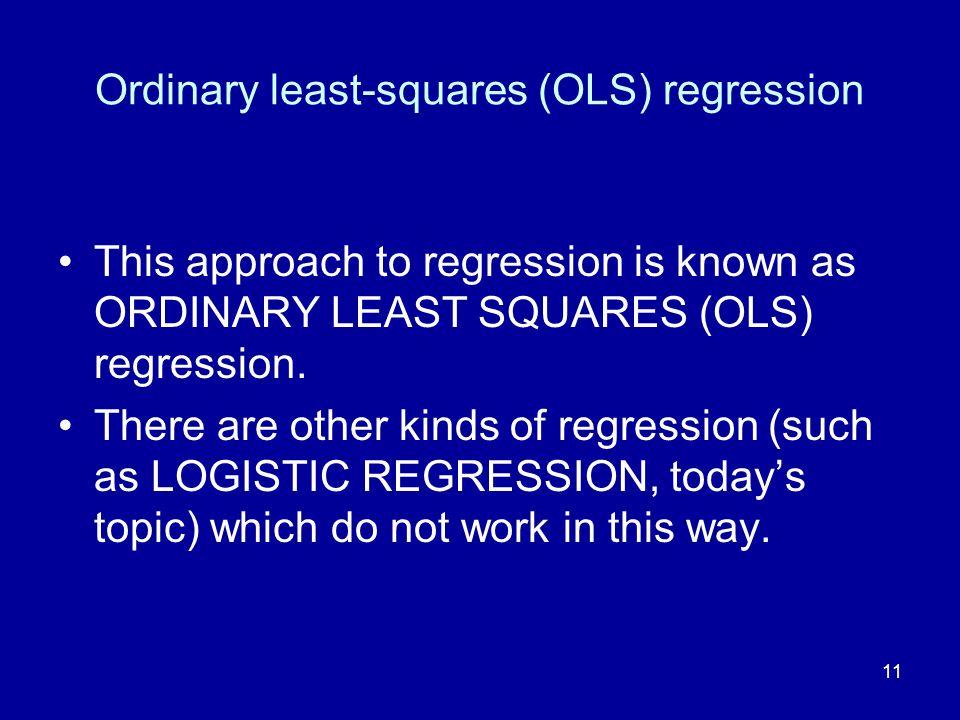 Ordinary least-squares (OLS) regression