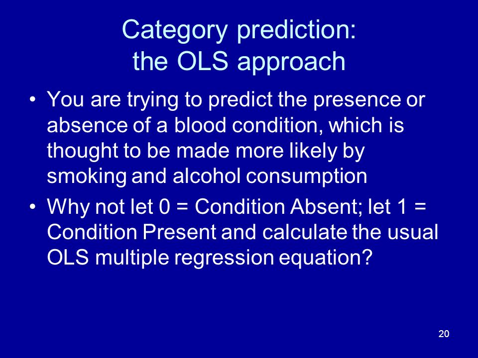 Category prediction: the OLS approach