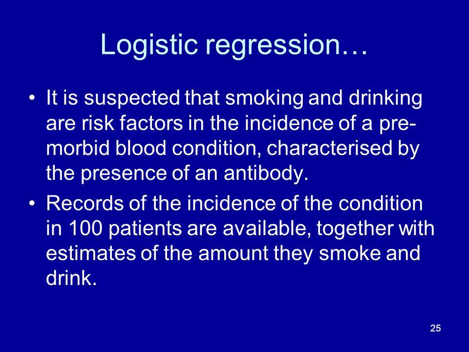 Logistic regression…