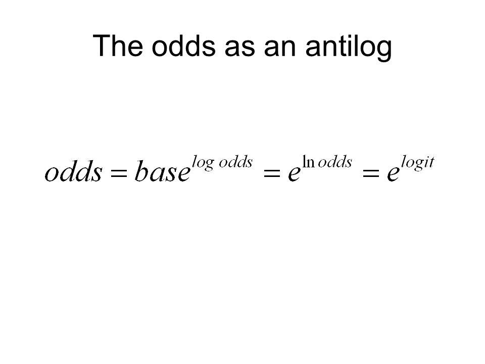 The odds as an antilog
