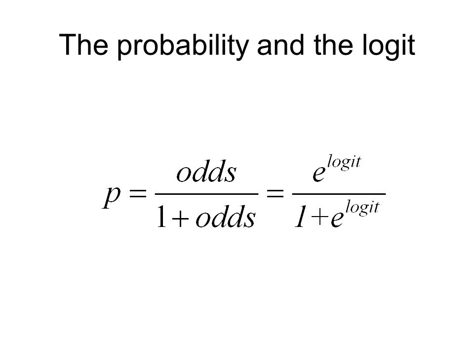 The probability and the logit