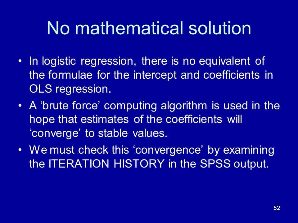 No mathematical solution