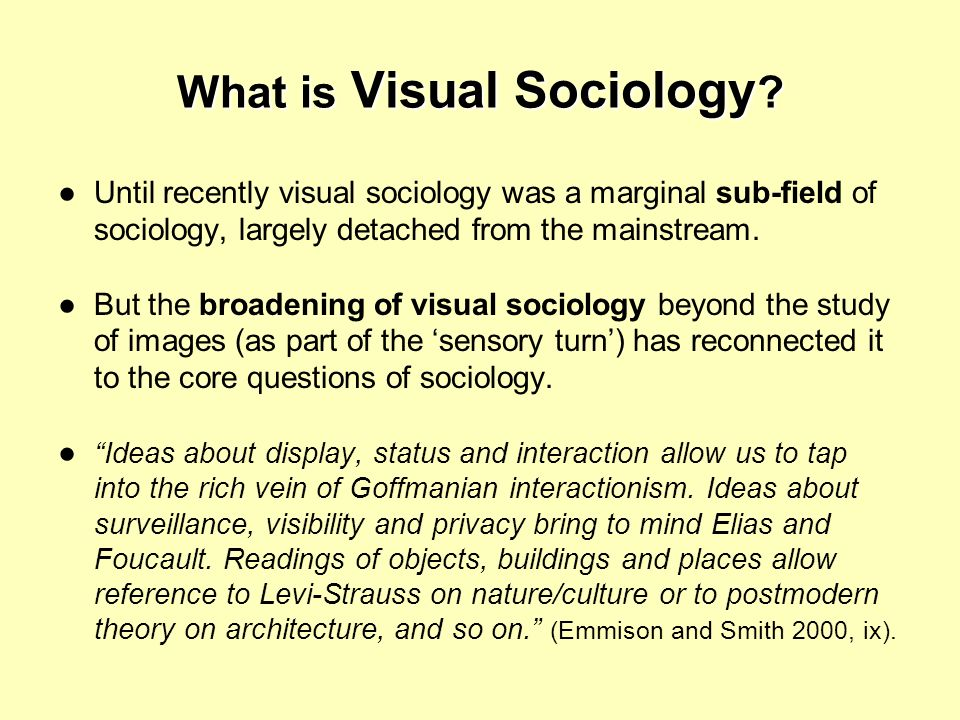 What is Visual Sociology