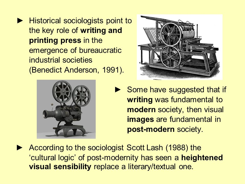 ► Historical sociologists point to