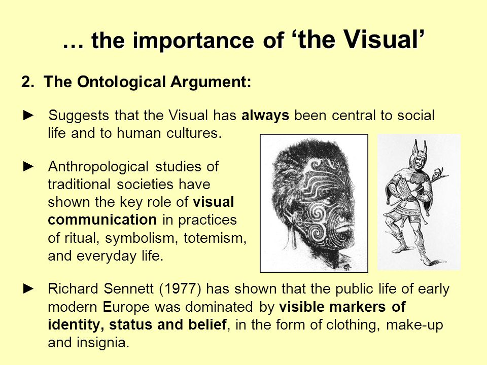 … the importance of 'the Visual'