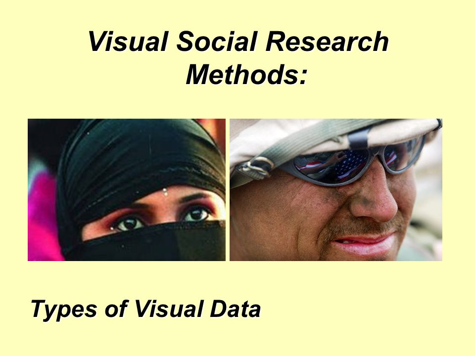 Visual Social Research Methods: