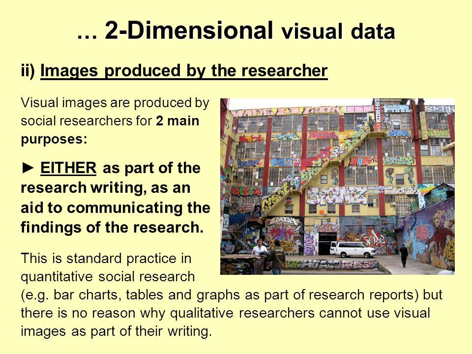 … 2-Dimensional visual data