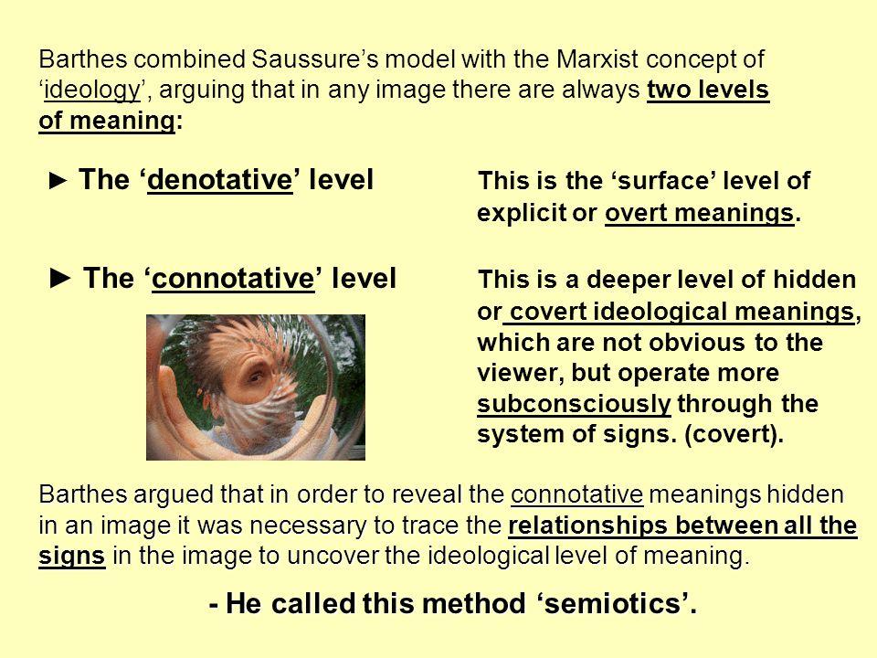 - He called this method 'semiotics'.