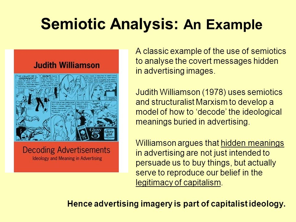 Semiotic Analysis: An Example