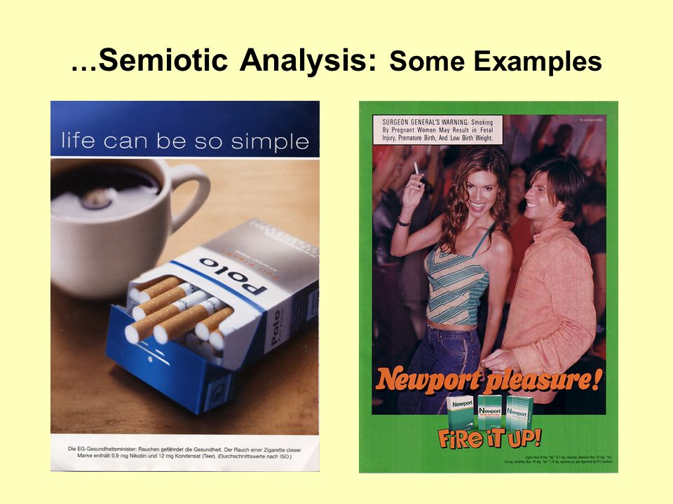 …Semiotic Analysis: Some Examples