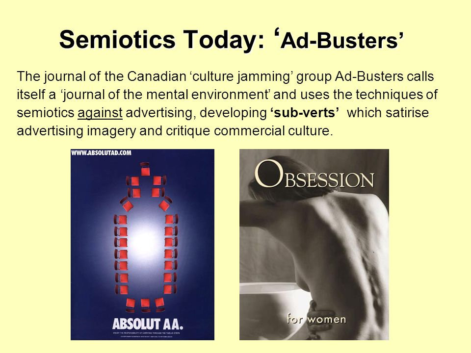 Semiotics Today: 'Ad-Busters'