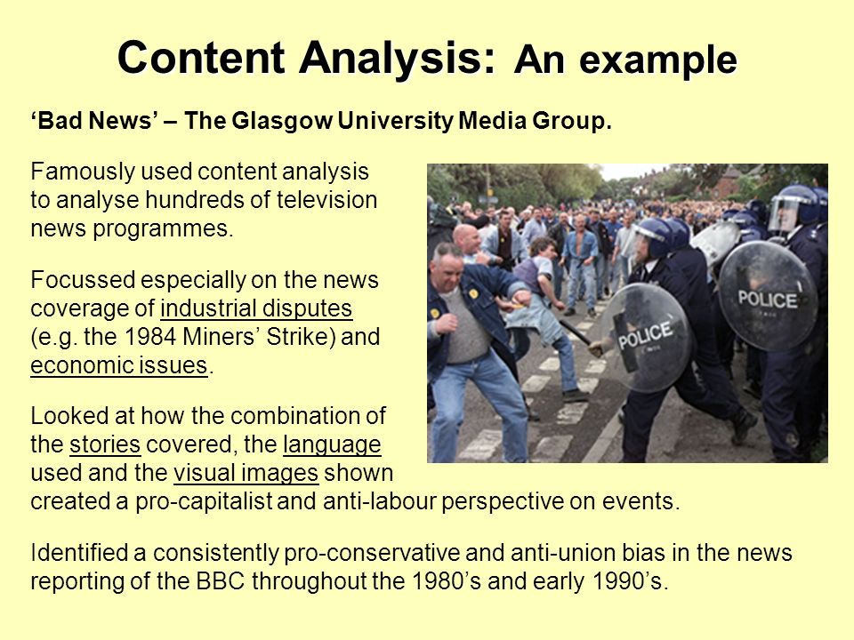 Content Analysis: An example
