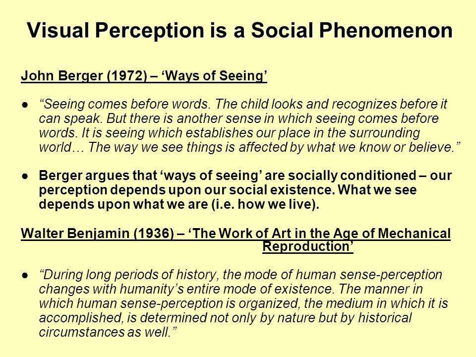 Visual Perception is a Social Phenomenon