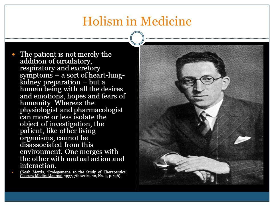 Holism in Medicine