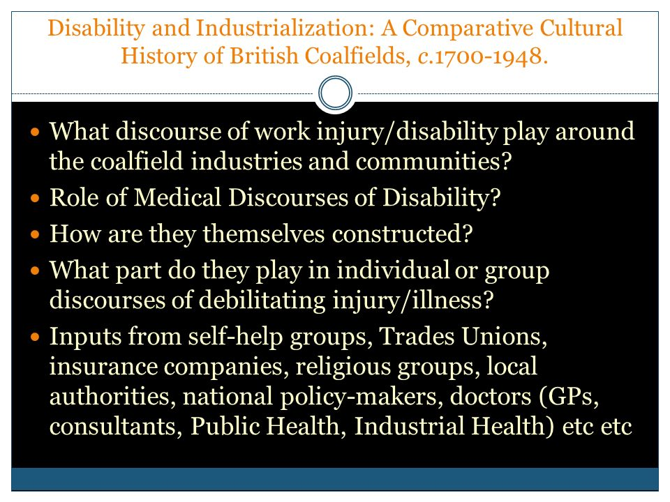 Role of Medical Discourses of Disability