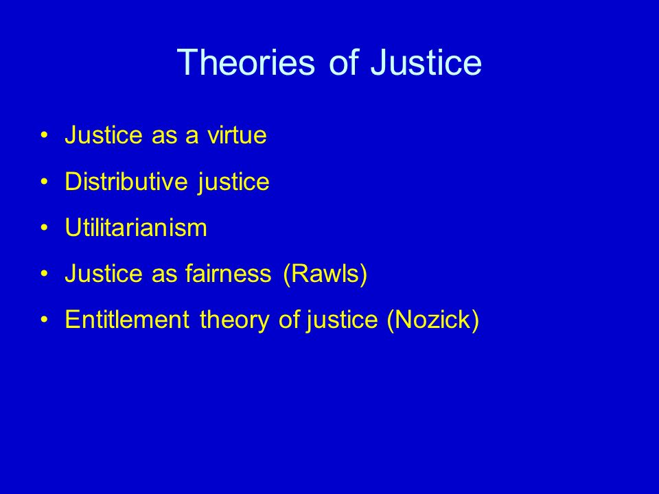 a comparison of nozicks entitlement theory and rawls theory of disruptive justice Principles of justice-nozick requires much less than rawls to theory of distributive justice must have nozick's entitlement principles.