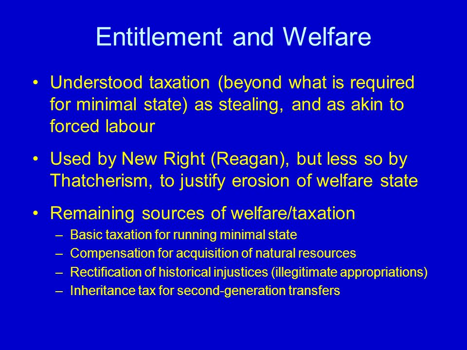 Entitlement and Welfare