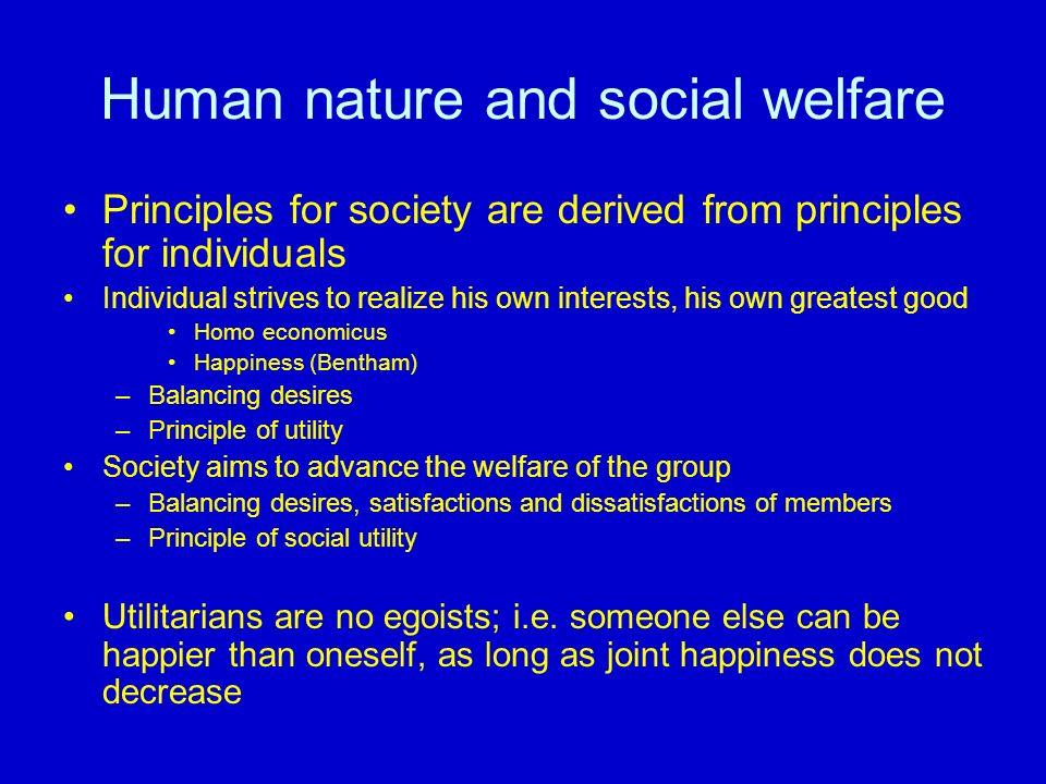 Human nature and social welfare