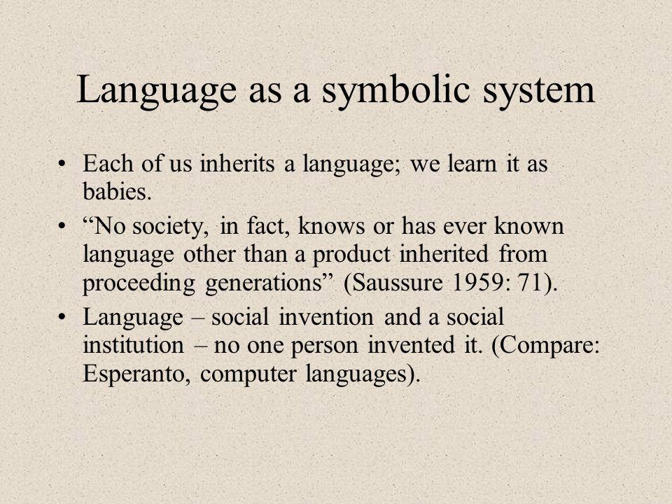 Language as a symbolic system