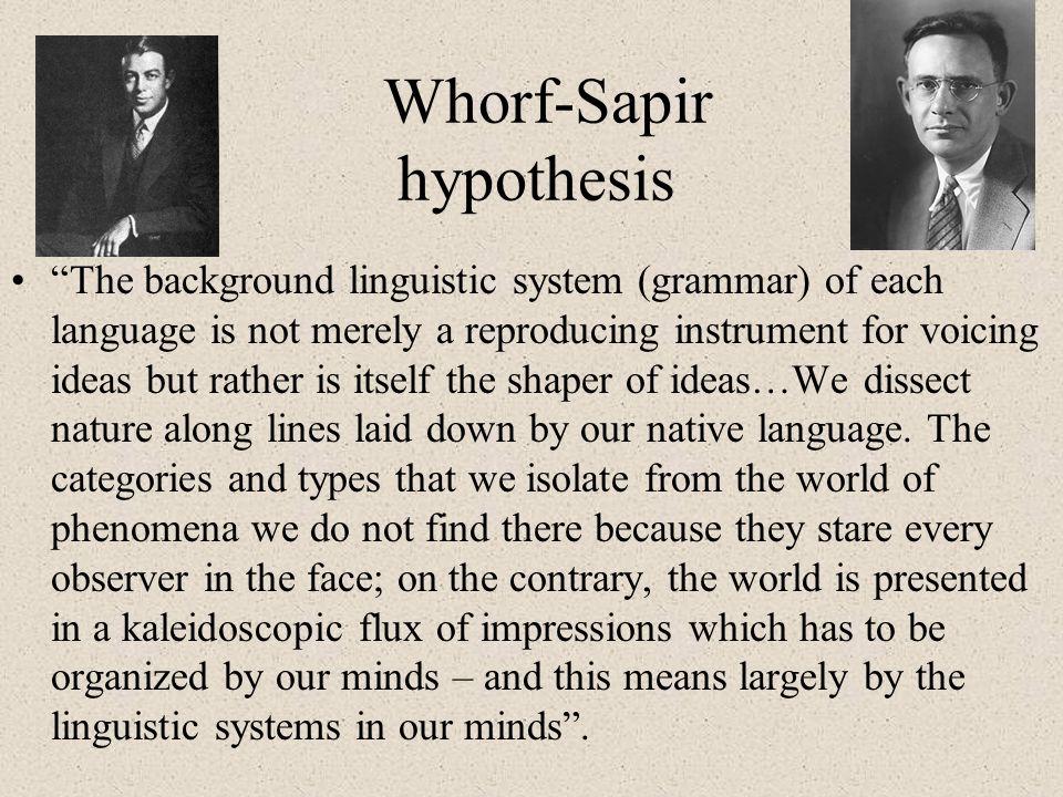 Whorf-Sapir hypothesis