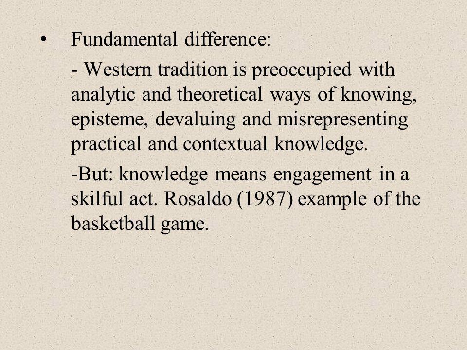 Fundamental difference: