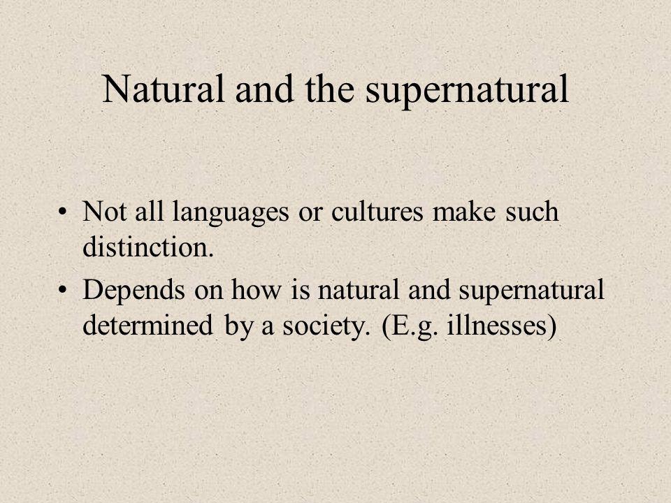 Natural and the supernatural