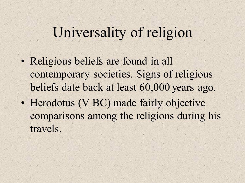 Universality of religion