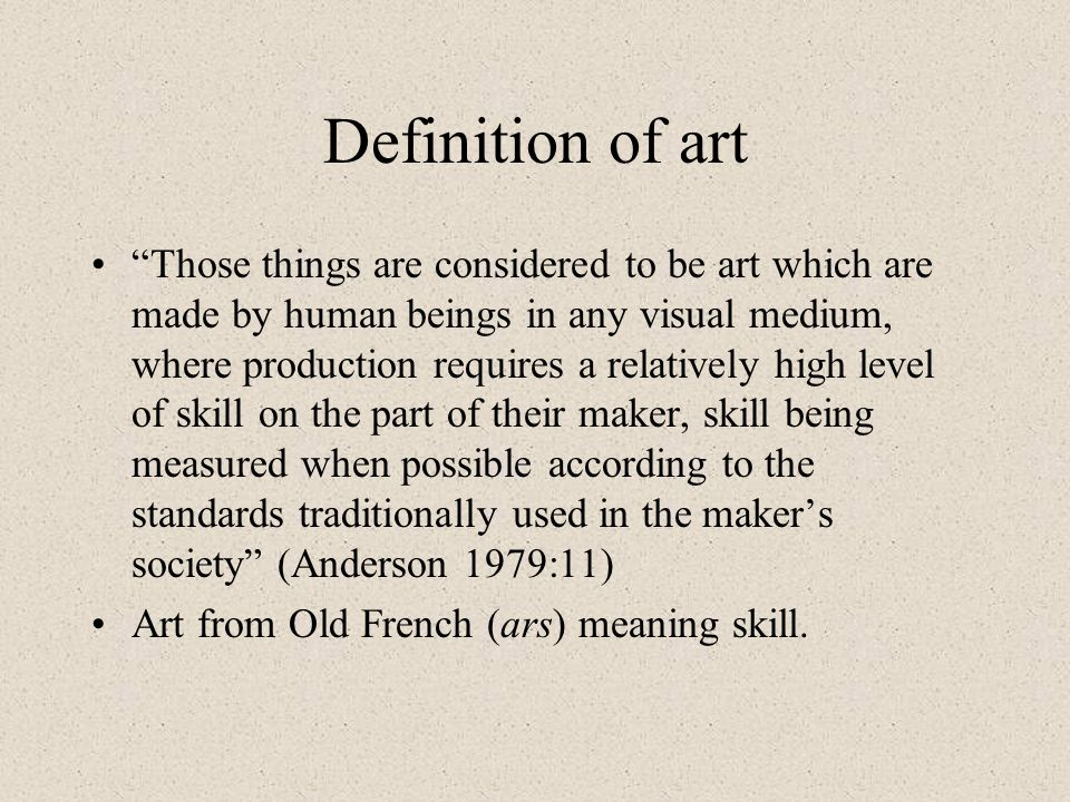 Definition of art