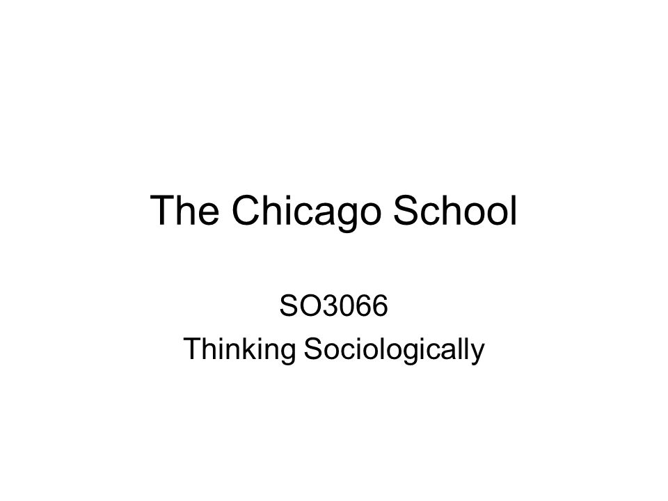 SO3066 Thinking Sociologically