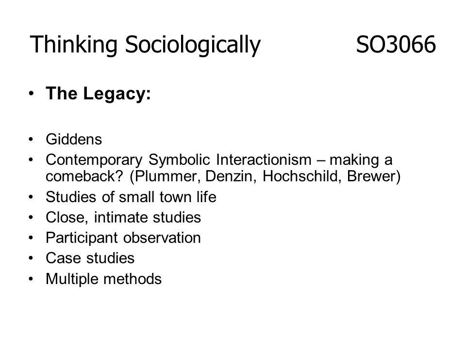 Thinking Sociologically SO3066