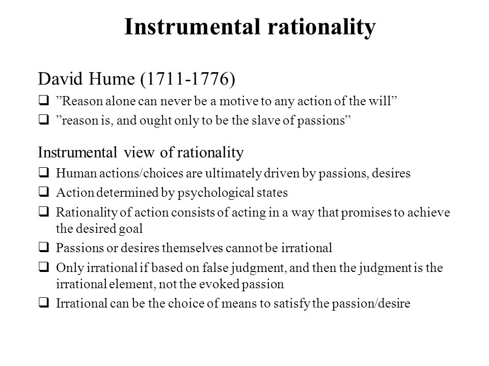 Instrumental rationality
