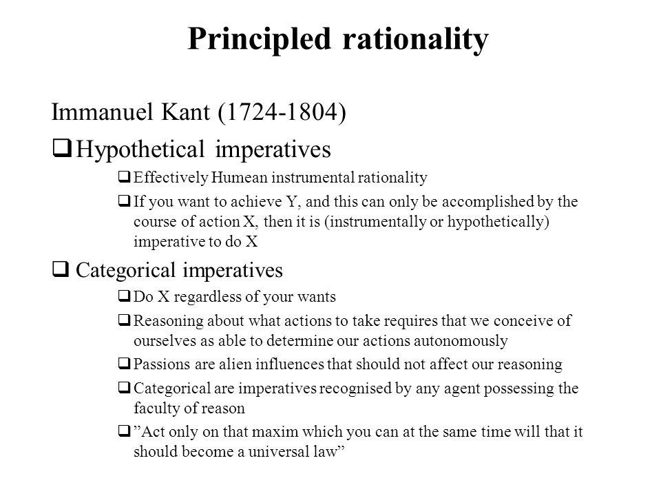 Principled rationality