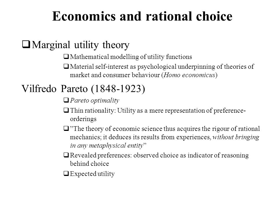 Economics and rational choice