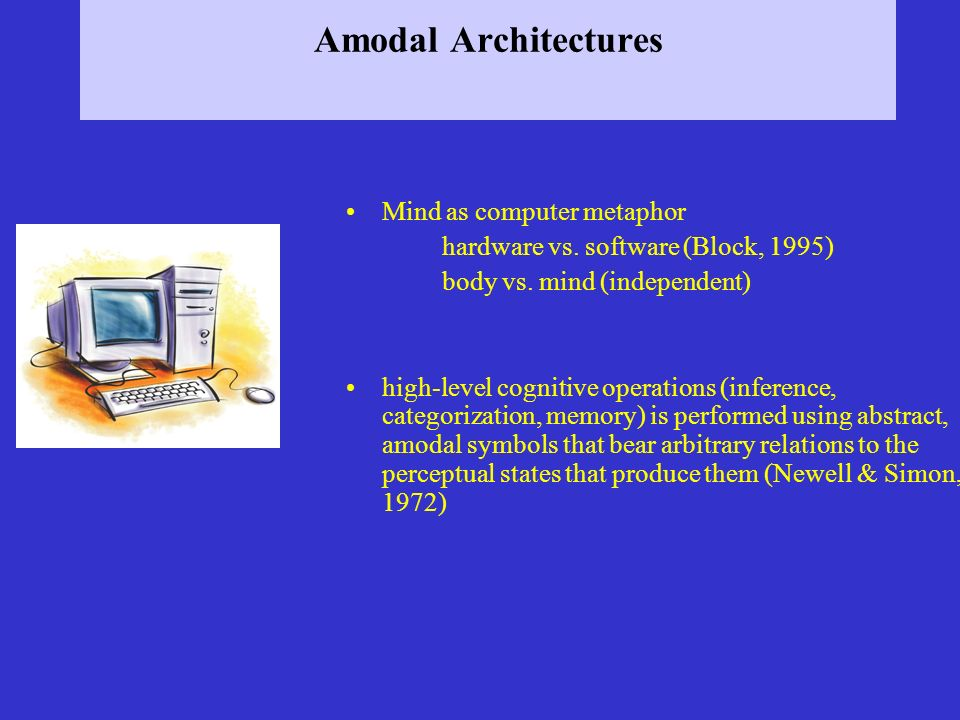 Amodal Architectures Mind as computer metaphor