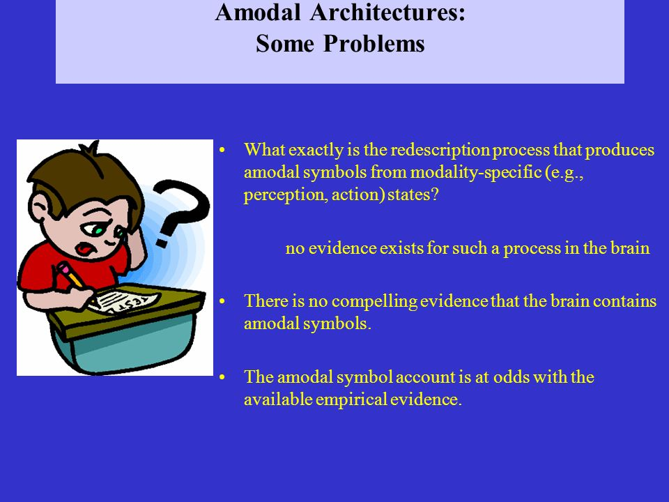 Amodal Architectures: Some Problems