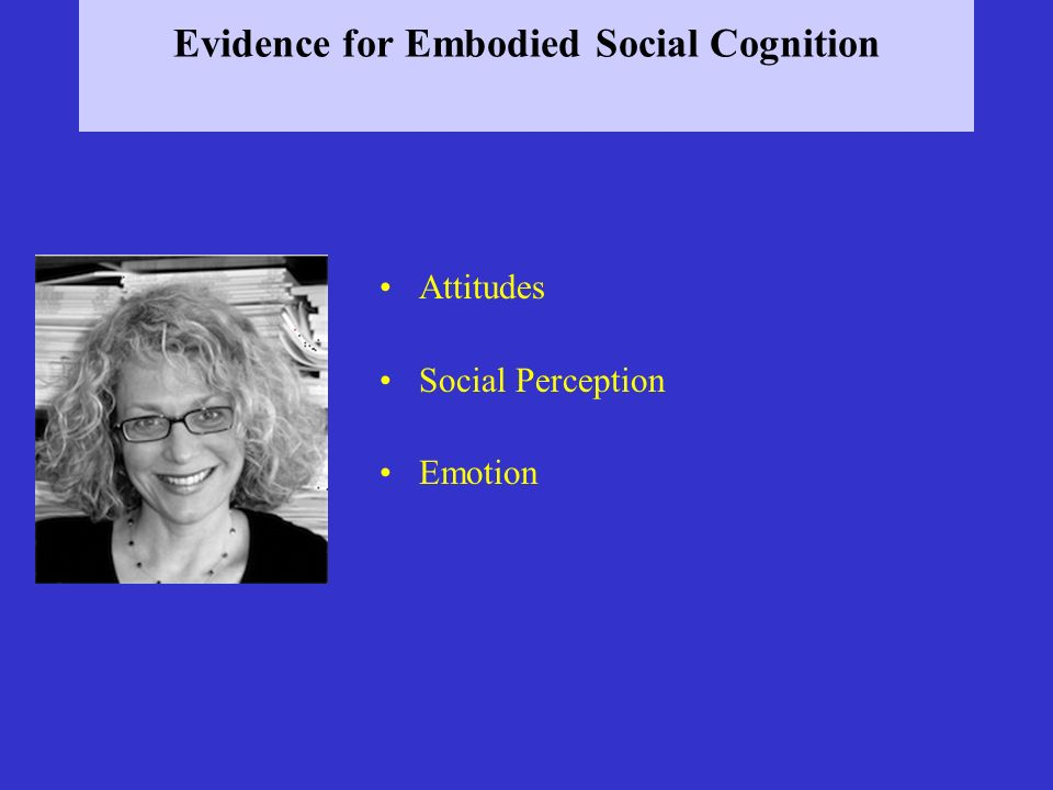 Evidence for Embodied Social Cognition