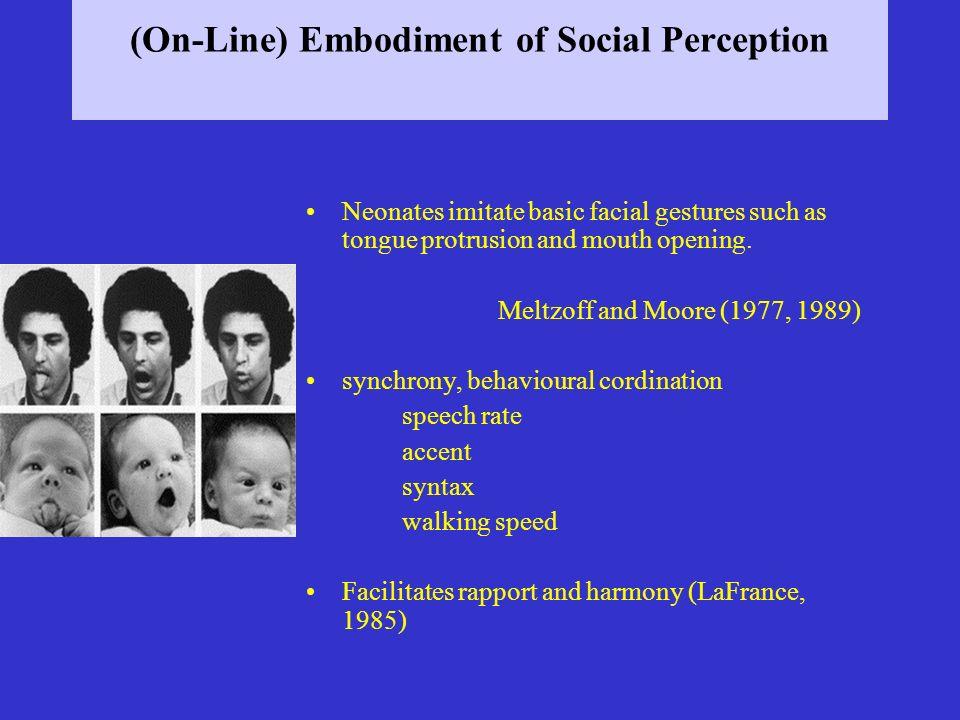 (On-Line) Embodiment of Social Perception