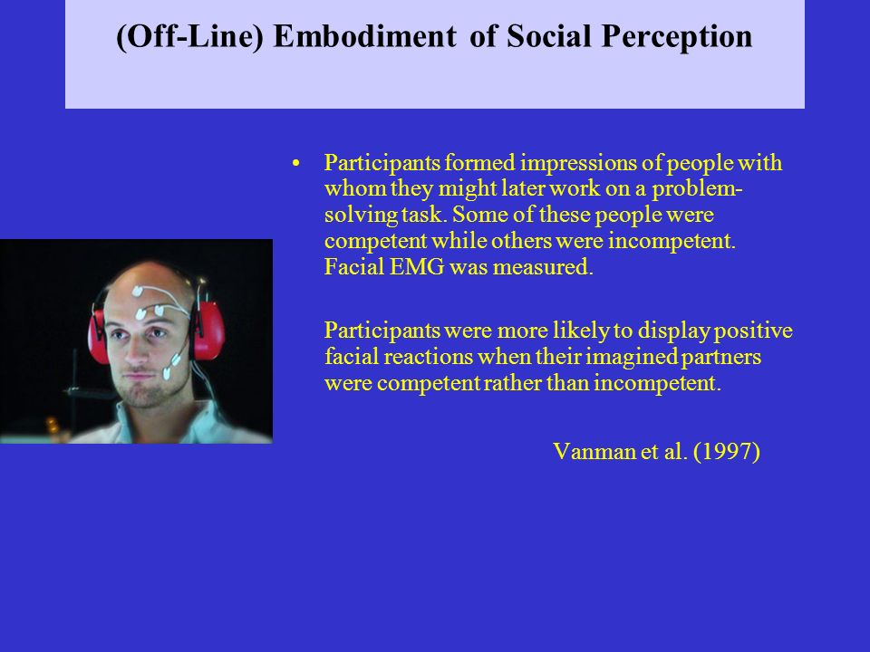 (Off-Line) Embodiment of Social Perception