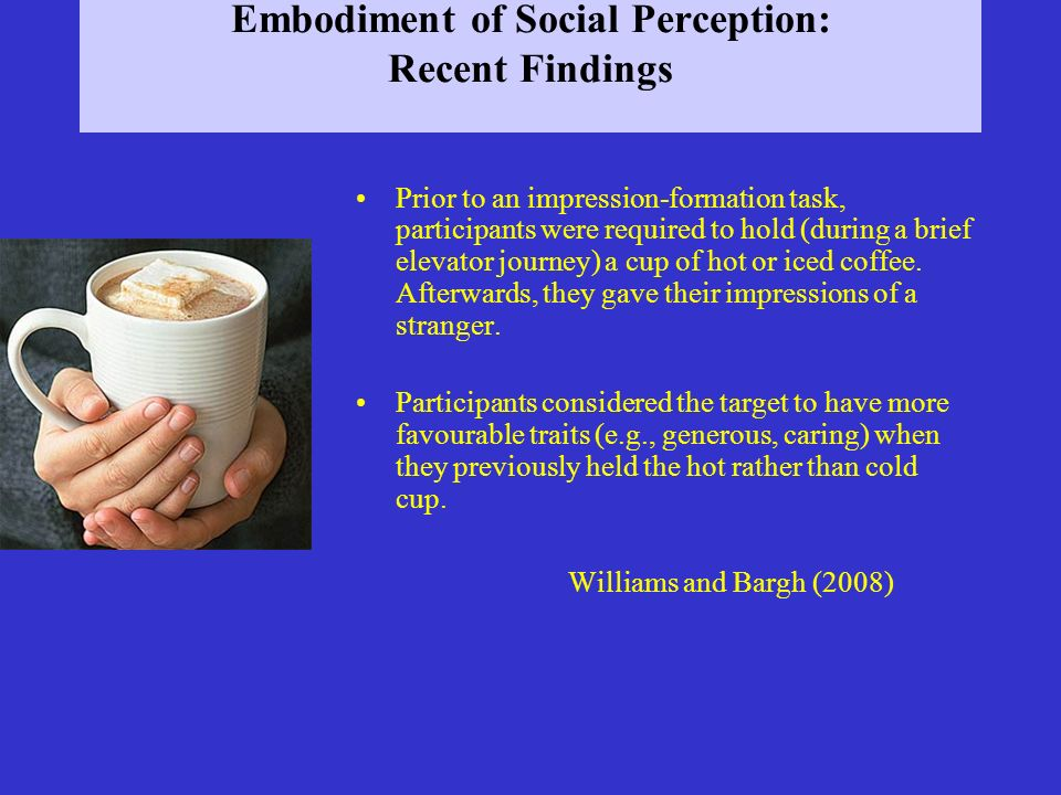 Embodiment of Social Perception: Recent Findings