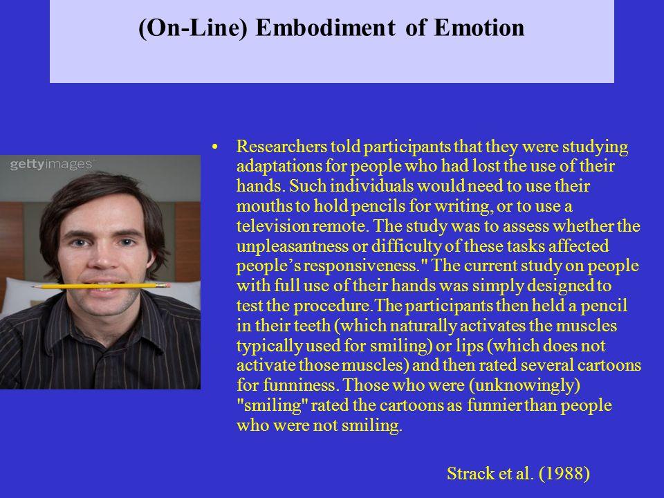(On-Line) Embodiment of Emotion