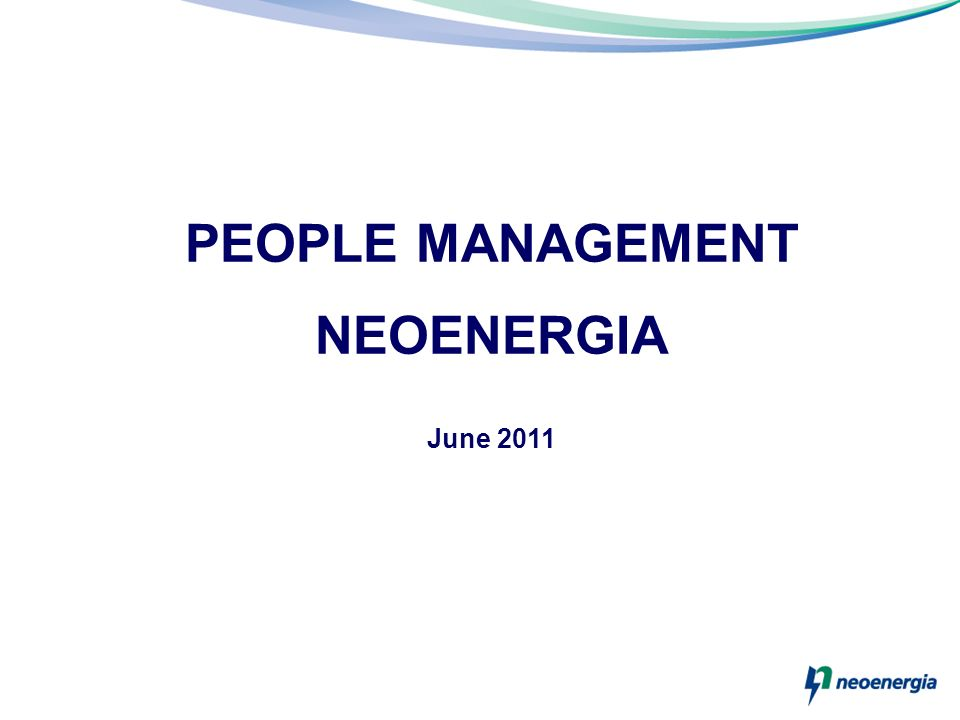 PEOPLE MANAGEMENT NEOENERGIA