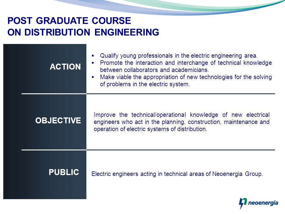 POST GRADUATE COURSE ON DISTRIBUTION ENGINEERING