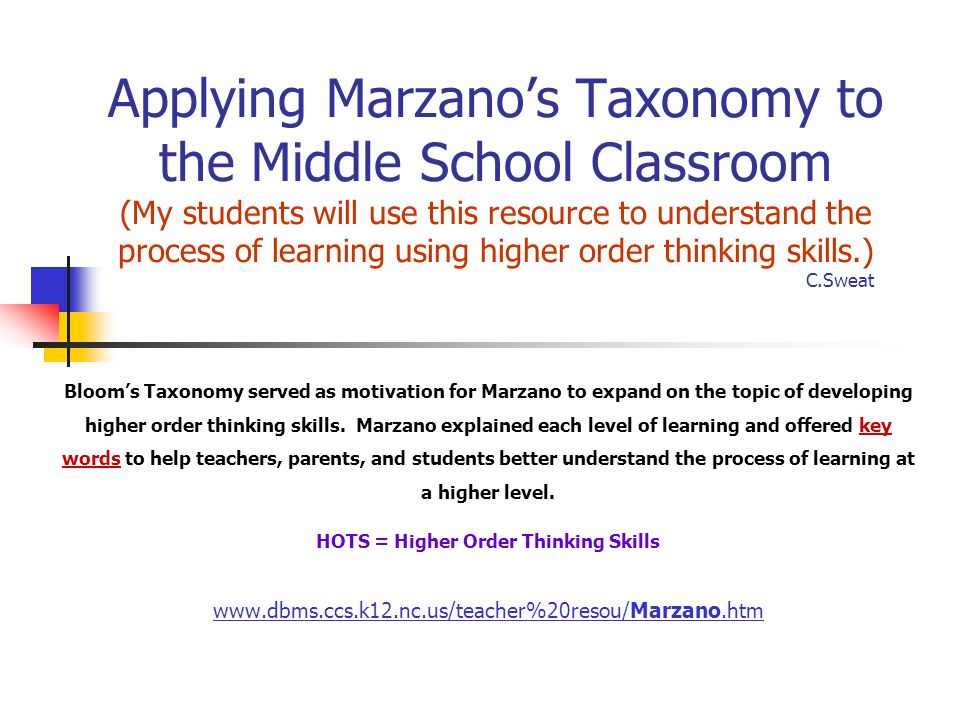 an analysis of the use of higher order thinking skills by teachers