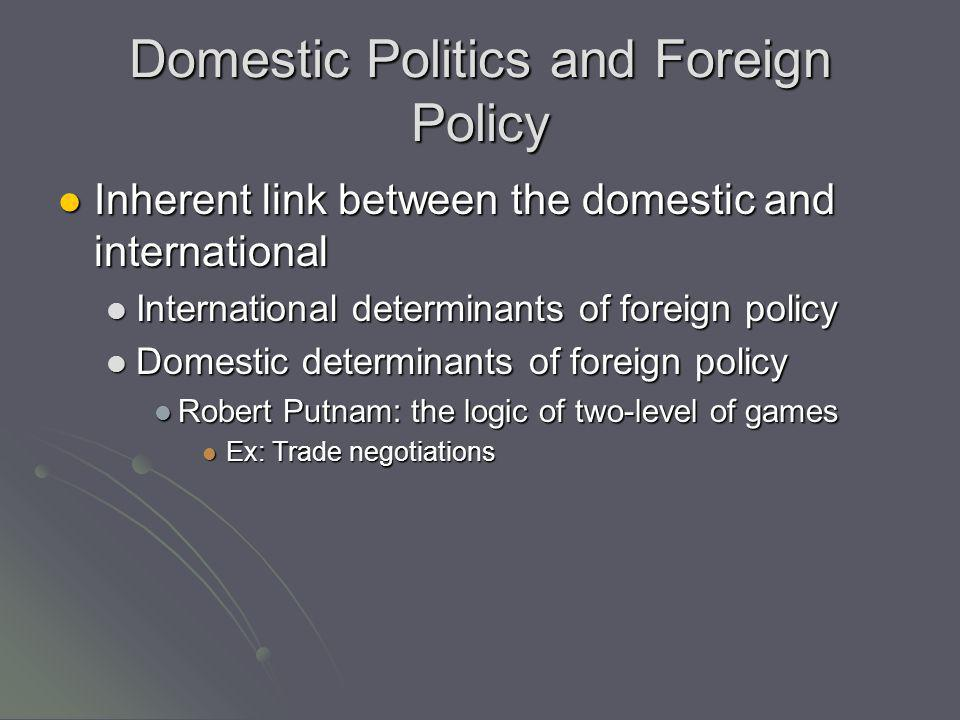 Domestic Politics and Foreign Policy