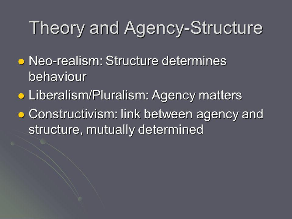 Theory and Agency-Structure