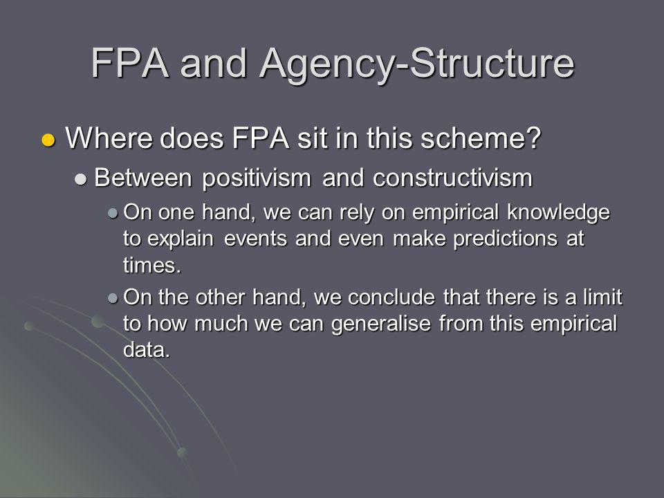 FPA and Agency-Structure