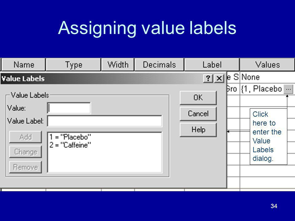 Assigning value labels